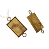 Bezel Handmade Link Rectangle 19x29x4mm Antique Brass